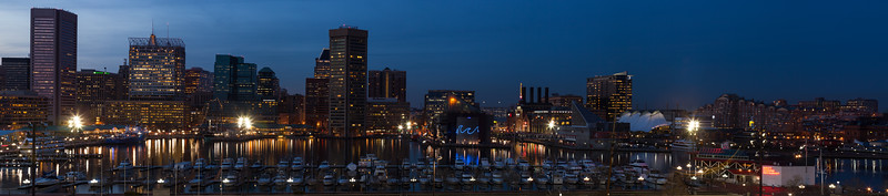 Inner Harbor at Dusk.