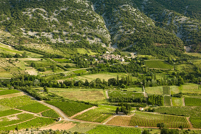Overhead view of Valley, Provence.