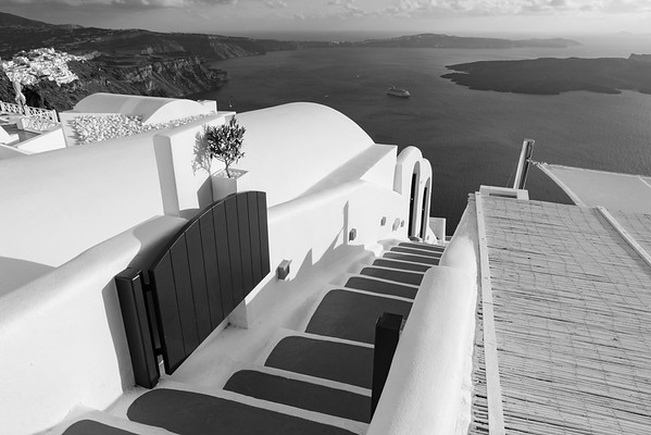 Steps away from the Sea, Santorini.