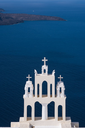 Bell tower, Santorini, Greece.