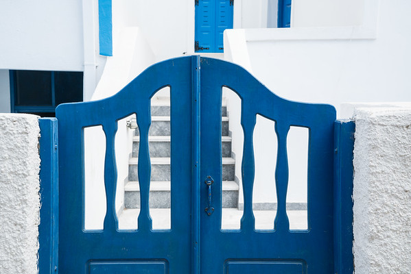 The Blue Gate, Santorini.