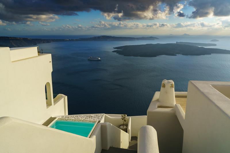 Villas in afternoon sun, Greece.
