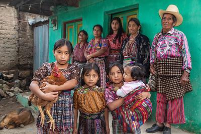 Portrait of a proud family, San Jorge la Laguna.