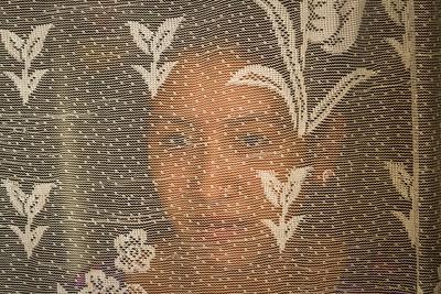 Woman Behind Curtain, Guatemala.