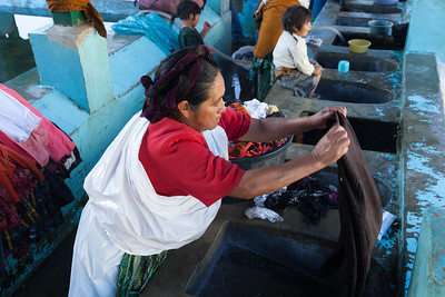 Woman doing the family's wash.