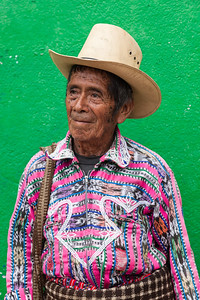 Portrait of a traditional man, Guatemala.