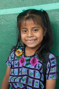 A happy girl, Santiago de Atitlán.