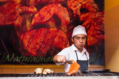 Chef Grilling chicken, Antigua.