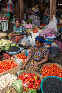 Women selling produce, Guatemala.