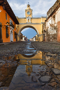 Santa Catalina Arch and reflection, Antigua.