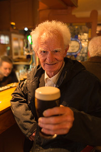 Portrait of old irishman in pub, Killarglin, Ireland.