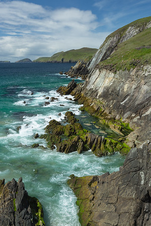 Rugged cliffs at Slea Head,  Dingle Peninsula, western Ireland.