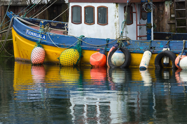 Fishing boat in Dingle Harbor, western Ireland.