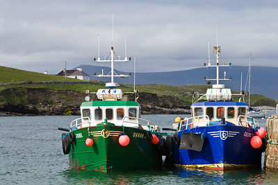 Fishing boats in Clare Island Harbor