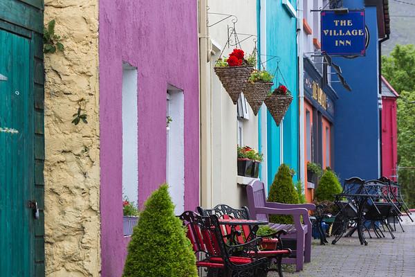 Colorful houses of Ardgroom, Ireland.