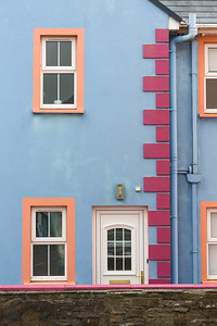 Colorful House Exterior, Allihies, Ireland.