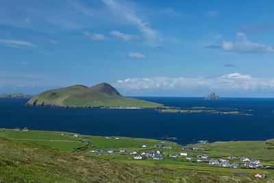 View Across Blasket Sound to Blasket Island, Dingle Peninsula, Ireland.