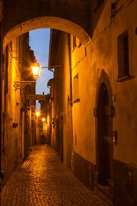 Twilight in Orvieto, Italy.