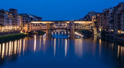 Ponte Vecchio Bridge at Dusk