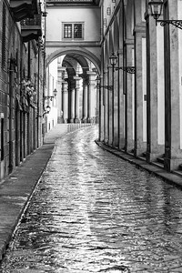 Rainy day in Florence, Italy.