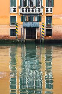 Reflections of Venice, Italy.