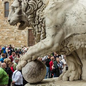 Medici Marble Lion Sculpture, Florence.