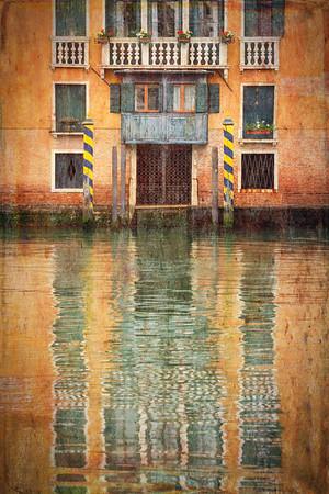 Textured Reflections, Venice, Italy.