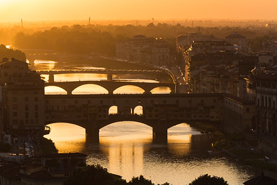 Day's end in Florence, Italy.