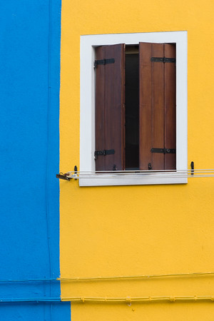 Blue and Yellow with Window, Italy.