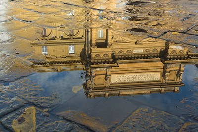 Reflections in a puddle.