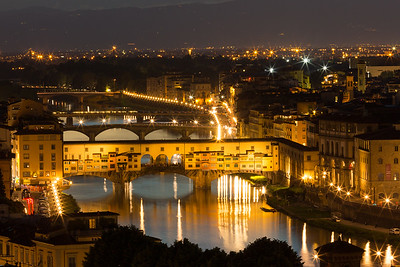 Dusk over Florence, Italy.
