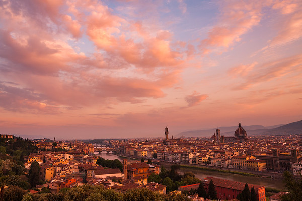 Sunrise Over Florence, Italy.