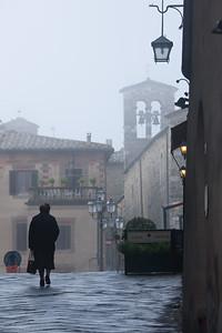 Foggy day, Montalcino, Italy.