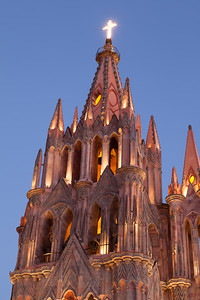 La Parroquia Church at Twilight, San Miguel de Allende.