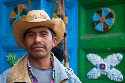 Portrait of Mexican Man.
