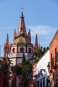 Imposing church domes, San Miguel de Allende.