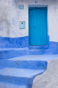 Blue Door Entrance