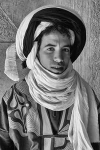 Young Tuareg man, Morocco.