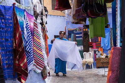 On sale now, along the streets of Chefchaouen, Morocco.