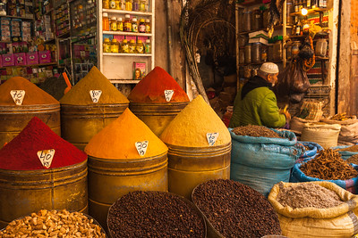 Spices for sale, Marrakech, Morocco.