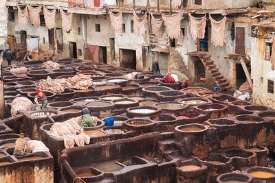 Tannery Vats from Above.
