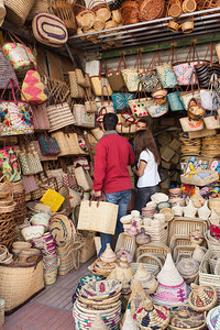 Basket shopping, Morocco.