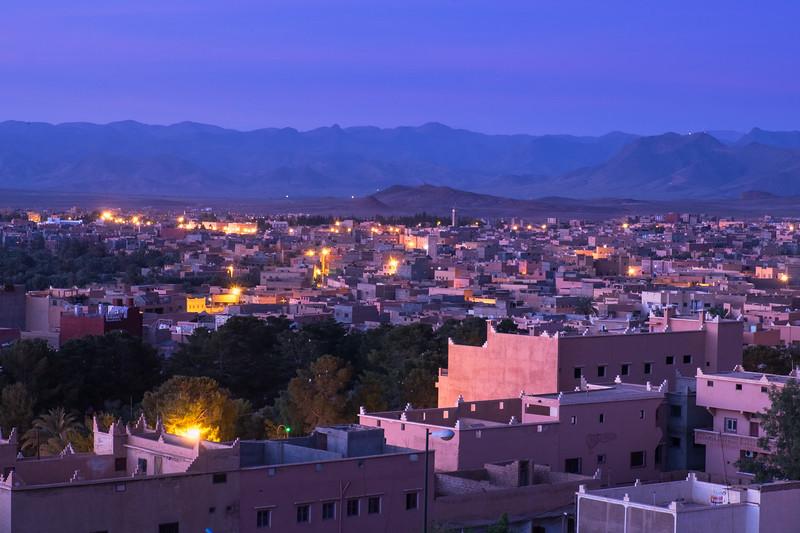 Dawn comes to Tinerhir, Morocco.