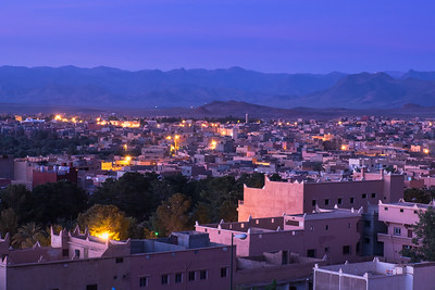 Dawn comes to Tinerhir, Morocco.