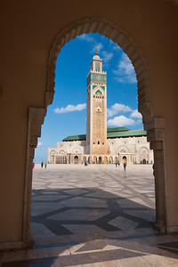King Hassan II Mosque in Casablanca, Morocco.