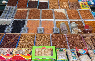 Nuts and fruits for sale, Morocco.