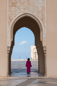 Visiting the mosque of Hassan II, Morocco.