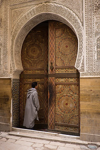 Doorway to a mosque, Fes, Morocco.