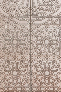 Intricate metal door detail, Morocco.