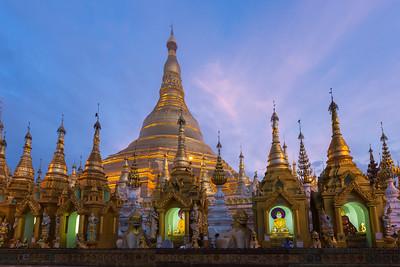 Shwedagon at Dawn, Myanmar